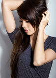 Beautiful asian young woman with flawless skin. And perfect make-up Royalty Free Stock Images