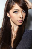 Beautiful asian young woman with flawless skin Stock Photos