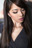 Beautiful asian young woman with flawless skin Stock Images
