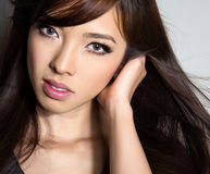 Beautiful asian young woman with flawless skin Stock Photography