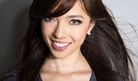 Beautiful asian young woman with flawless skin Royalty Free Stock Photography