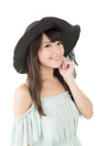 Beautiful asian young woman with hat Stock Image