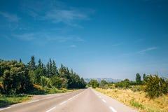Beautiful asphalt freeway, motorway, highway. Travel Stock Images