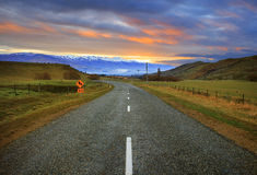 Beautiful asphalt road and land scape rural country farm south i Stock Images