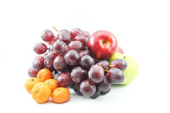 Beautiful assorted fruit Stock Images