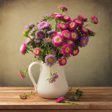 Beautiful aster flower bouquet Royalty Free Stock Images