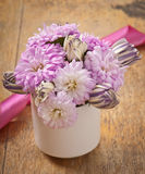 Beautiful aster flower bouquet Stock Image