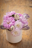 Beautiful aster flower bouquet Stock Images