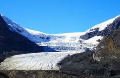 Beautiful Athabasca Glacier in the Rocky Mountains at Columbia Icefields in Canada royalty free stock photography