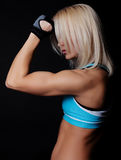 Beautiful athlete resting Royalty Free Stock Photography