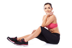 Beautiful athlete taking a rest Royalty Free Stock Photos