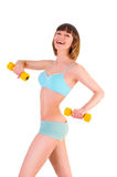 Beautiful athletic body Stock Photo