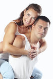 Beautiful athletic couple Royalty Free Stock Image