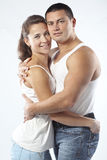 Beautiful athletic couple Stock Image