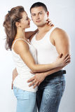 Beautiful athletic couple Royalty Free Stock Photo