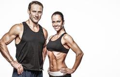 Beautiful athletic couple Stock Image
