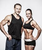 Beautiful athletic couple Stock Images