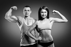 Beautiful athletic couple Royalty Free Stock Photos