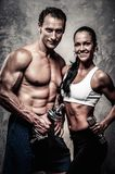 Beautiful athletic couple Royalty Free Stock Photography