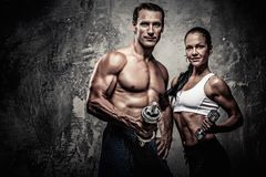 Beautiful athletic couple Stock Photo