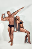 Beautiful athletic couple. royalty free stock photography