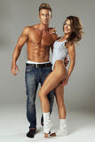 Beautiful athletic couple. Stock Photos