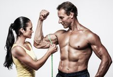 Beautiful athletic couple Stock Photos