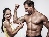 Beautiful athletic couple Royalty Free Stock Images