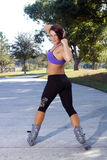 Beautiful Athletic Rollerblader Outdoors (4) Stock Photo