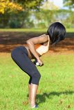 Beautiful athletic woman doing exercise Royalty Free Stock Photos