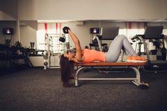 Beautiful athletic woman making exercise Royalty Free Stock Photo