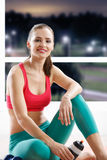 Beautiful athletic woman Royalty Free Stock Images
