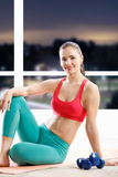 Beautiful athletic woman Stock Images