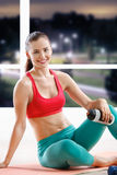 Beautiful athletic woman Stock Image