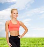 Beautiful athletic woman in sportswear Royalty Free Stock Photos