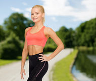 Beautiful athletic woman in sportswear Royalty Free Stock Photo