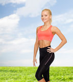 Beautiful athletic woman in sportswear Royalty Free Stock Images