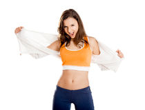 Beautiful athletic young woman Royalty Free Stock Image