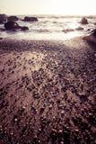 Beautiful Atlantic beach in sunset Stock Photography