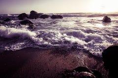 Beautiful Atlantic beach in sunset Royalty Free Stock Images