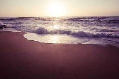 Beautiful Atlantic beach in sunset Royalty Free Stock Photography