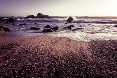 Beautiful Atlantic beach in sunset Royalty Free Stock Photo
