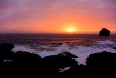 Beautiful Atlantic Ocean shore sunset, Iceland Stock Photography