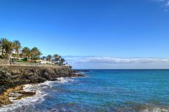 Atlantic ocean in Gran Canaria. Beautiful atlantic ocean water in Gran Canaria island, Canary Islands, Spain stock photos