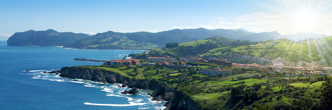 Beautiful atlantic shore in Basque Stock Photography