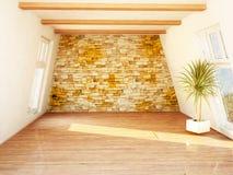 Beautiful attic room Royalty Free Stock Photo