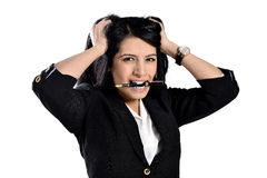 Beautiful attractive business women Stock Image