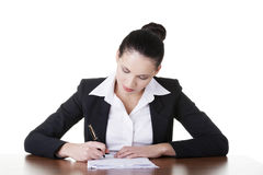 Beautiful attractive corporate lawyer business woman. Royalty Free Stock Image