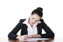 Beautiful attractive corporate lawyer business woman. Royalty Free Stock Photography