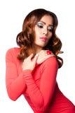 Beauty wavy hairstyle stock photos